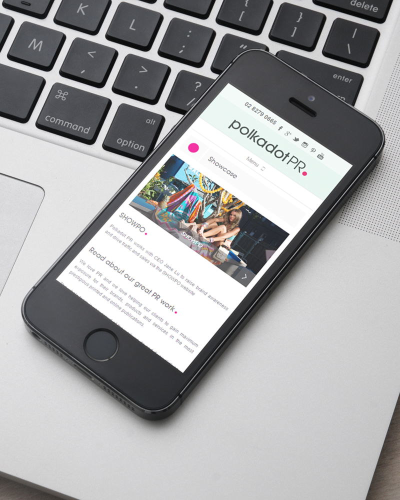 Polkadot PR - Responsive Website Design Example